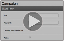 link to video showing how to create mobile website